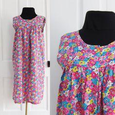 Village #Vintage Cotton Floral Print #House #Dress by AmbassadorGrooviness