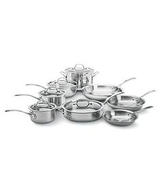 New Calphalon TriPly Stainless Steel 13Piece Cookware Set #Dillards