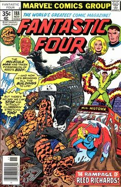 Fantastic Four #188: Reed becomes the Molecule Man!