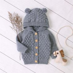 Baby Cardigan Knitting Pattern, Knitted Baby Cardigan, Knitted Coat, Baby Knitting Patterns, Sweater Cardigan, Twin Baby Clothes, Trendy Baby Clothes, Cute Baby Shoes, Baby Warmer
