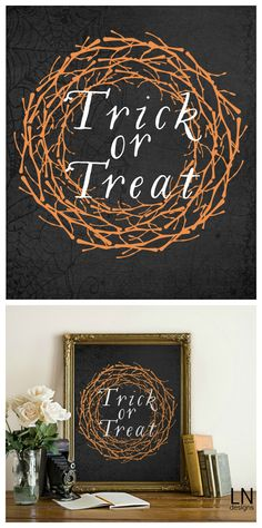 Free Trick or Treat Halloween Print