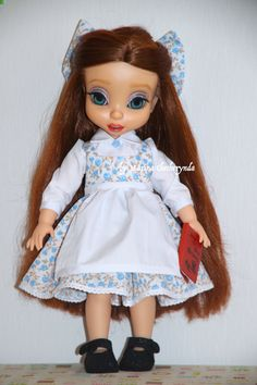Belle dress for Disney animator dolls. Disney doll clothes. by FairyTaleLOVEit on Etsy