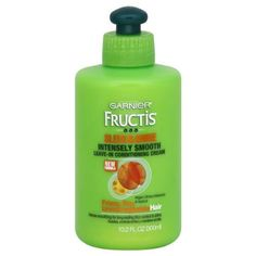 Garnier Fructis Sleek & Shine Leave-In Conditioning Cream-10.2, oz. by Garnier. $8.99. With Nutritive Fruit Micro-Oils. Works To Defend Against Humidity. For Frizzy, Dry & Unmanageable Hair. Smoothes Hair For Long-Lasting Frizz Control. Intense soothing for long-lasting frizz control and shine.