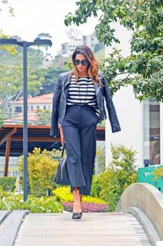 The_Market_Girl_Mango_zara_stripes_culottes_stevemadden_bikerjacket_furla
