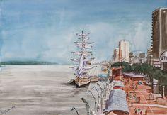 Guayaquil. Obra: Tarquino Mejía