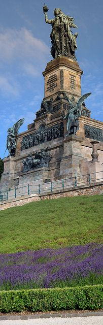 Nederwald Monument - Statue of Germania to commemorate the founding of the German Empore after the Franco-Prussian was. It represents the union of all Germans - Rudesheim GERMANY