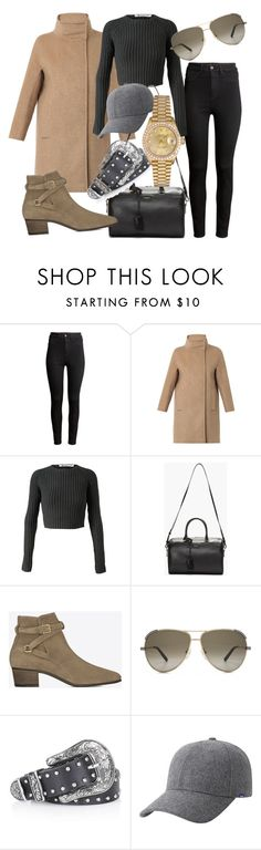 """""""Untitled #2918"""" by dkfashion-658 ❤ liked on Polyvore featuring H&M, Weekend Max Mara, T By Alexander Wang, Yves Saint Laurent, Chloé, Topshop, Keds and Rolex"""