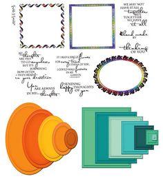 Stamp Set 436 - Thoughtful Frames - Spellbinders Combo Set 3
