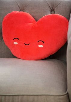 Loving Room Pillow - Knit, Red, Valentine's, Kawaii, Good