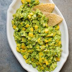 Tropical Mango Guacamole | The sweetness of mango is right at home in this fresh, lime-tinged guacamole, which takes only 15 minutes to make.
