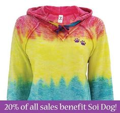 Greater Good has a great range of merchandise, such as this Rainbow Paw tie dye hooded sweatshirt, which is the ideal gift for the animal lover in your life. By following this link to purchase, Soi Dog will receive 20% of your total spend at the Greater Good online store: http://shop2give.us/1lQqOhz