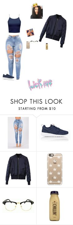 """""""on and on--somo"""" by trilliestbitch ❤ liked on Polyvore featuring NIKE, WithChic, Casetify and CO"""