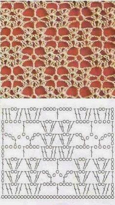 3 Puntadas crochet / 3 Puntos crochet / 3 Crochet Pattern