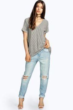 Mya Mid Rise Relaxed Boyfriend Jeans