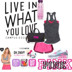 """Love the Nike Air Max  """"Live in What You Love with Victoria's Secret PINK"""" by avaverka on Polyvore"""