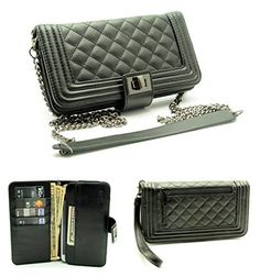 ZZYBIA® Crossbody / Wristlet Clutch 2 way Coin Zip Mobile Case Wallet Card Holder with Detechable Long Chain For Apple iPhone 6 Plus / 6 , Samsung Galaxy S6 / S6 Edge / Note 4 / Edge / 3 / 2 / II, Google Nexus 6, Galaxy S5 Active, HTC One M9 / EYE /M8, Panasonic Lumix CM1 , Sony Xperia Z3 / Z2 / Z1, LG G3 / G4 / G Pro 2 / Intuition, ASUS PadFone X [Up to 6.5 x 3.5 Inch Smartphones], http://www.amazon.com/dp/B00W0RTBII/ref=cm_sw_r_pi_awdm_HZwKvb0H9Y1WH