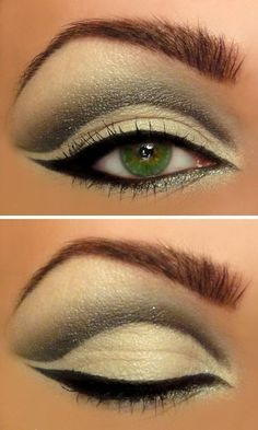 Retro eye make-up...so 50's. Love it! Now if I could only figure out how to do it!!