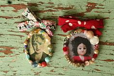 Cameo brooches: Julie Arkell