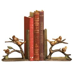 I pinned this 2 Piece Sparrows Bookend Set from the Wonder & Whimsy event at Joss and Main!