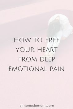 Free your heart from the weight it carries from past traumatic experiences. Life is too short to walk around feeling numb and bogged down. LEARN MORE ABOUT TRAUMA HEALING HERE: https://simoneclement.com/blog/emotional-pain-ptsd-abuse-healing-trauma-heal  ptsd, trauma, post traumatic stress disorder, emotional pain, emotional abuse, physical abuse, sexual abuse, emotional healing, healing emotional pain, mental pain, dealing with emotional pain, psychological pain, healing emotional trauma