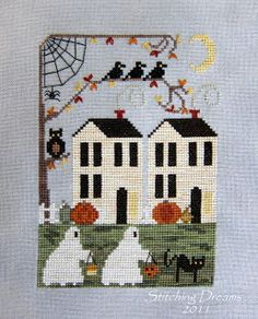 Stitching Dreams: Trick or Treat Lane Love this!!  Who's pattern is this??