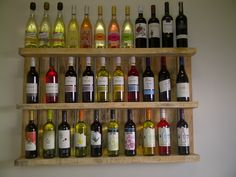Stunning wine rack in one of our offices - made from an old pallet.