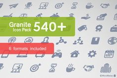Granite Icon Pack by Micro Store on Creative Market