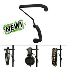 "Keep your headphones, tambourines, cables and more within easy reach with the Stagehand Accessory Hook. Fits all mic/music/cymbal stands, ranging from 1/2""-1"" in diameter."