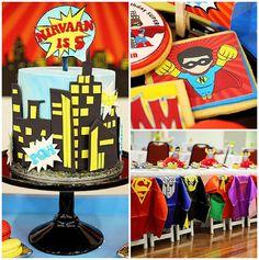 Superhero Birthday Party via Kara's Party Ideas KarasPartyIdeas. com (2)