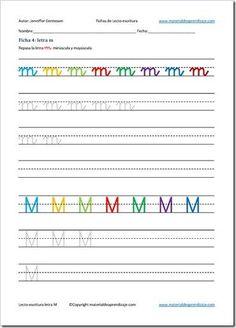 Lectoescritura letra m_4 France, Education, Reading, School, Second Grade, Alphabet, Activities, Letter Activities, Preschool Learning Activities