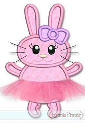 Tutu Bunny Applique - 3 Sizes! | Ballet-Dance | Machine Embroidery Designs | SWAKembroidery.com ynnie Pinnie