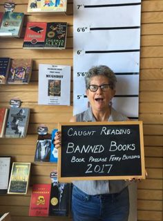 Banned Books Week: Book Passage in the San Francisco Ferry Building is once again offering readers an opportunity to confess to reading banned books. Guilty readers can choose a title from the nearby display, or use the line-up ID card.