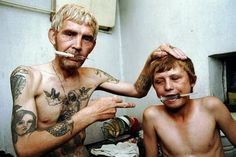 Dad and Son Addicted to Heroin photographed by Anatoly Rakhimbaev