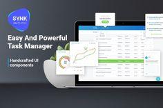 Task Manager UI Kit by Konnstantinc on @creativemarket