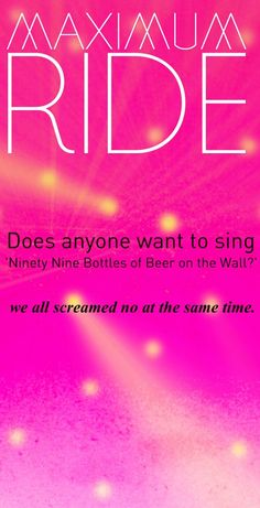 Who would want to sing?!