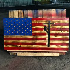 A personal favorite from my Etsy shop https://www.etsy.com/listing/490204968/wooden-lineman-american-flag
