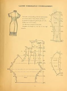 doll underware What We Did When The Power Went Out (Sewing In Walden): Ladies' Combination Undergarment 1888 Costume Patterns, Dress Patterns, Dot Patterns, Antique Clothing, Historical Clothing, Vintage Sewing Patterns, Clothing Patterns, Victorian Pattern, Costume Tutorial