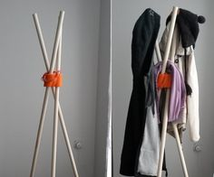 Coat Rack With 3d Printed Parts - All