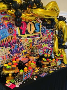 Chelsey Flint Events's Birthday / - Photo Gallery at Catch My Party 15th Birthday Decorations, 90s Theme Party Decorations, 30th Birthday Themes, Birthday Ideas For Her, 22nd Birthday, Lan Party, Backyard Birthday, Birthdays, Party Ideas