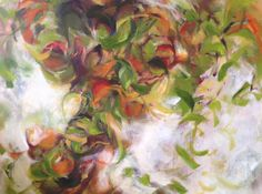 """Molly Courcelle, """"Bearing Fruit"""" 30x40 oil on canvas"""