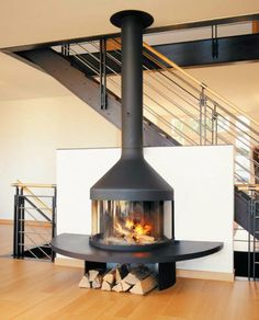 Wall Mounted Focus | Custom Fireplace Design - Optifocus 1700, Hearth Shelf Design