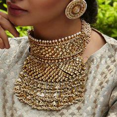 Antique Jewellery Designs, Indian Jewellery Design, Ethnic Jewelry, Indian Jewelry, Antique Jewelry, Kundan Jewellery Set, Cartier Jewelry, Jewelry Design Earrings, Bridal Jewellery