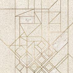 Terrazzo + Brass Design #terrazzo #flooring