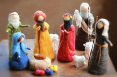 Essential Nativity Set Needle felted by CloudBerryCrafts on Etsy