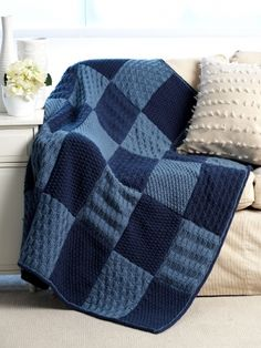 Sampler Blanket | Yarn | Free Knitting Patterns | Crochet Patterns | Yarnspirations