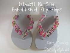 Tutorial: No-sew knotted fabric flip flops · Sewing   CraftGossip.com