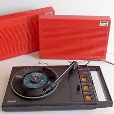 Philips, Record Player, Orange, Turntable, Vintage, Retro, Childhood Memories, Primitive, Mid Century