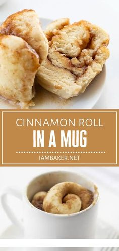 Satisfy your sweet cravings with a delicious no-bake dessert that can be ready in under 10 minutes! Cinnamon Roll in a Mug is quick and easy to make in a pinch. Serve warm from the microwave and drizzle it with a 2-ingredient glaze! Pin this recipe for later! Quick Cinnamon Rolls, Cinnamon Roll Dough, Pumpkin Cinnamon Rolls, Homemade Desserts, No Bake Desserts, Dessert Recipes, Microwave Desserts, Easter Desserts, Mini Desserts