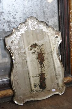 old foxed French mirror, love old mirrors French Country Rug, French Country Living Room, French Decor, French Country Decorating, Old Mirrors, Vintage Mirrors, Vintage Decor, Mirror Mirror, Etched Mirror