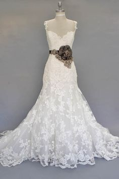 love this lace dress but maybe not with that big flower...:)